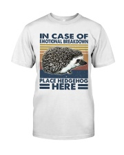 Place Hedgehog Here Classic T-Shirt front