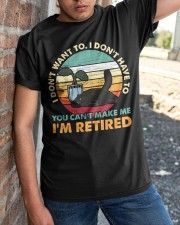 You Can't Make me I'm Retired Classic T-Shirt apparel-classic-tshirt-lifestyle-27