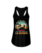 You Can't Make me I'm Retired Ladies Flowy Tank thumbnail