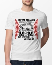 Baseball Mom Classic T-Shirt lifestyle-mens-crewneck-front-13