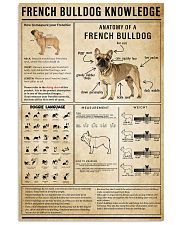 French Bulldog Knowledge 11x17 Poster front
