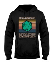 You Roll To Move Silently Hooded Sweatshirt front