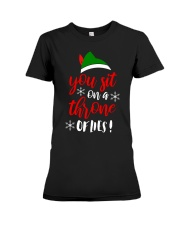 You Sit On A Throne Of Lies Premium Fit Ladies Tee thumbnail