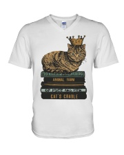 Cat's Lady V-Neck T-Shirt tile