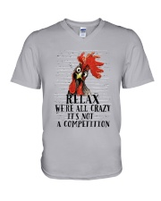 Relax We Are All Crazy V-Neck T-Shirt thumbnail