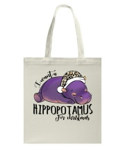 Hippopitamus For Christmas Tote Bag tile
