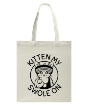Kitten My Swole On Tote Bag thumbnail
