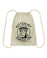 Kitten My Swole On Drawstring Bag thumbnail
