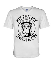Kitten My Swole On V-Neck T-Shirt thumbnail