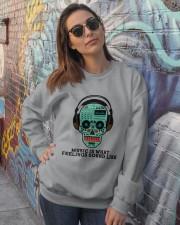 Music Is What Feeling Crewneck Sweatshirt lifestyle-unisex-sweatshirt-front-3