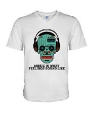 Music Is What Feeling V-Neck T-Shirt thumbnail