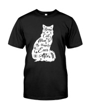 Being A Cat Mom Classic T-Shirt front