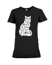 Being A Cat Mom Premium Fit Ladies Tee thumbnail