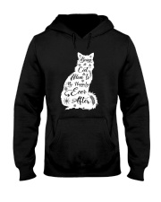 Being A Cat Mom Hooded Sweatshirt thumbnail