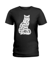 Being A Cat Mom Ladies T-Shirt thumbnail