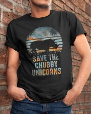 Save The Chubby Unicorns Classic T-Shirt apparel-classic-tshirt-lifestyle-26