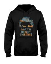 Save The Chubby Unicorns Hooded Sweatshirt thumbnail