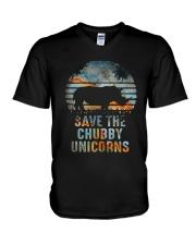 Save The Chubby Unicorns V-Neck T-Shirt thumbnail