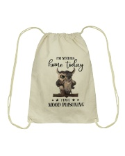 I'm Staying Home Today Drawstring Bag thumbnail