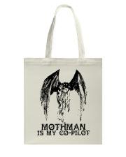 Moth Man Is My Co Pilot Tote Bag thumbnail