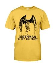 Moth Man Is My Co Pilot Classic T-Shirt front