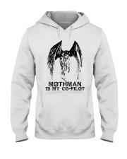 Moth Man Is My Co Pilot Hooded Sweatshirt thumbnail