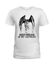 Moth Man Is My Co Pilot Ladies T-Shirt thumbnail