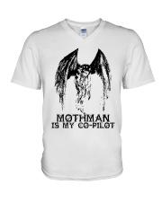 Moth Man Is My Co Pilot V-Neck T-Shirt thumbnail