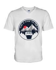Home Is Where You Park It V-Neck T-Shirt thumbnail