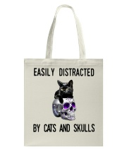 Cats And Skulls Tote Bag thumbnail