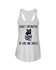 Cats And Skulls Ladies Flowy Tank tile