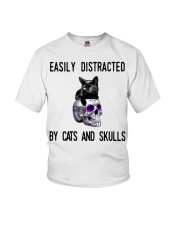 Cats And Skulls Youth T-Shirt thumbnail