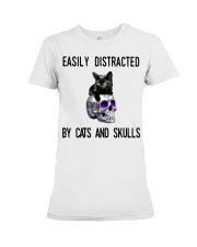Cats And Skulls Premium Fit Ladies Tee thumbnail