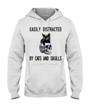 Cats And Skulls Hooded Sweatshirt thumbnail