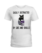 Cats And Skulls Ladies T-Shirt thumbnail
