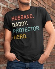 Husband Daddy Protector Hero Classic T-Shirt apparel-classic-tshirt-lifestyle-26