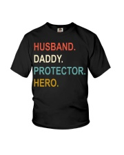 Husband Daddy Protector Hero Youth T-Shirt tile