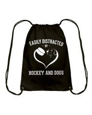 Hockey And Dogs Drawstring Bag thumbnail