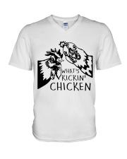 What's Kickin Chicken V-Neck T-Shirt thumbnail