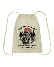 Rhymes With Camping Alcohol Drawstring Bag thumbnail