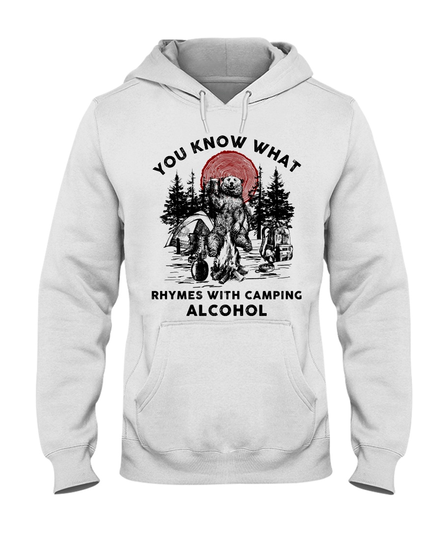 Rhymes With Camping Alcohol Hooded Sweatshirt