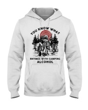 Rhymes With Camping Alcohol Hooded Sweatshirt front