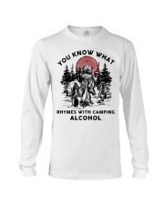 Rhymes With Camping Alcohol Long Sleeve Tee thumbnail