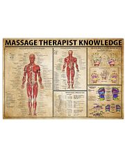 Massage Therapist Knowledge 17x11 Poster front