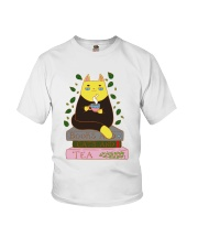 Books And Cats And Tea Youth T-Shirt thumbnail