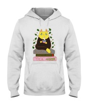 Books And Cats And Tea Hooded Sweatshirt thumbnail
