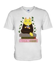 Books And Cats And Tea V-Neck T-Shirt thumbnail