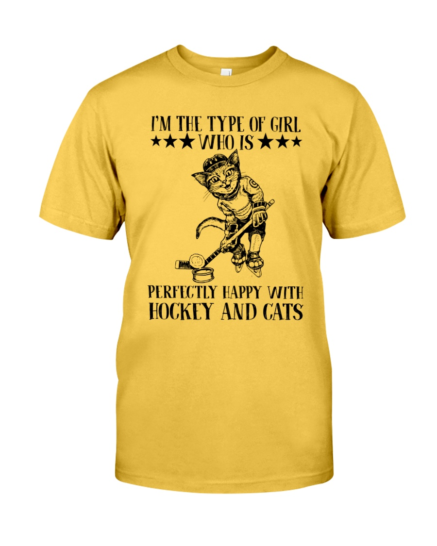 Hockey And Cats Classic T-Shirt