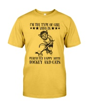 Hockey And Cats Classic T-Shirt front