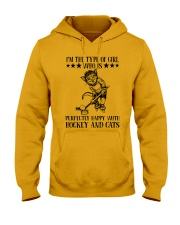 Hockey And Cats Hooded Sweatshirt thumbnail